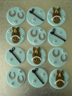 12  Horse Theme Cupcake Toppers
